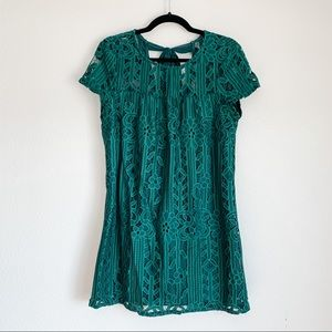 Lots of Love by Speechless Green Lace Dress M